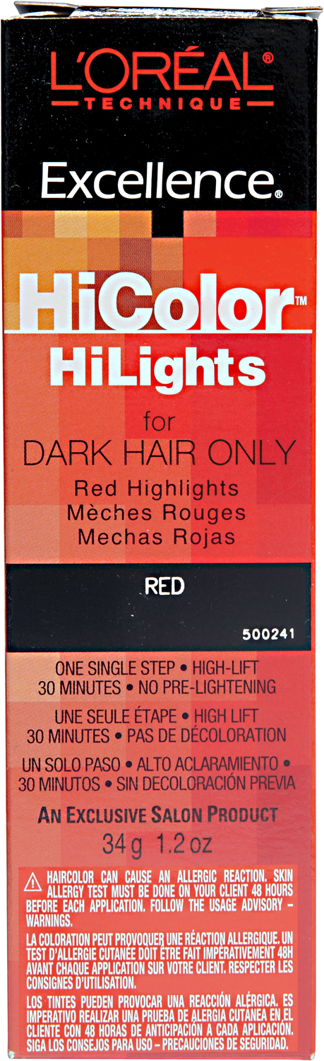 Hicolor Red Hilights Red Permanent Creme Hair Color Dark Hair