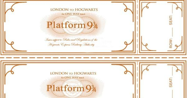 Free Harry Potter Hogwarts Express Ticket Template Hogwarts Express Ticket Harry Potter Bday Hogwarts Party