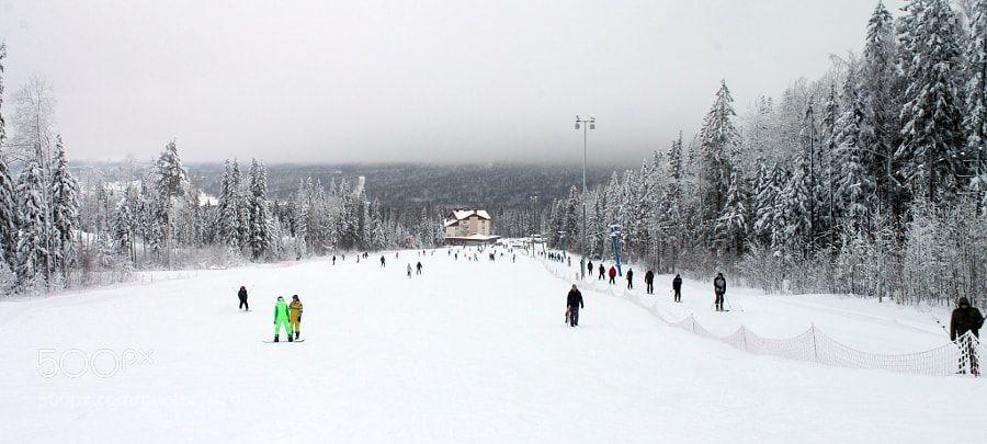 Popular on 500px : ski track by Dandarin