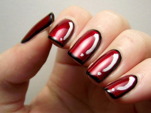 Short nails · Red Nail Designs With Gliter - Red Nail Designs With Gliter Nail Designs Pinterest Red Nail