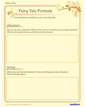 fairy tale formula printable creative writing worksheet for grade 4 ideas fairy tale. Black Bedroom Furniture Sets. Home Design Ideas