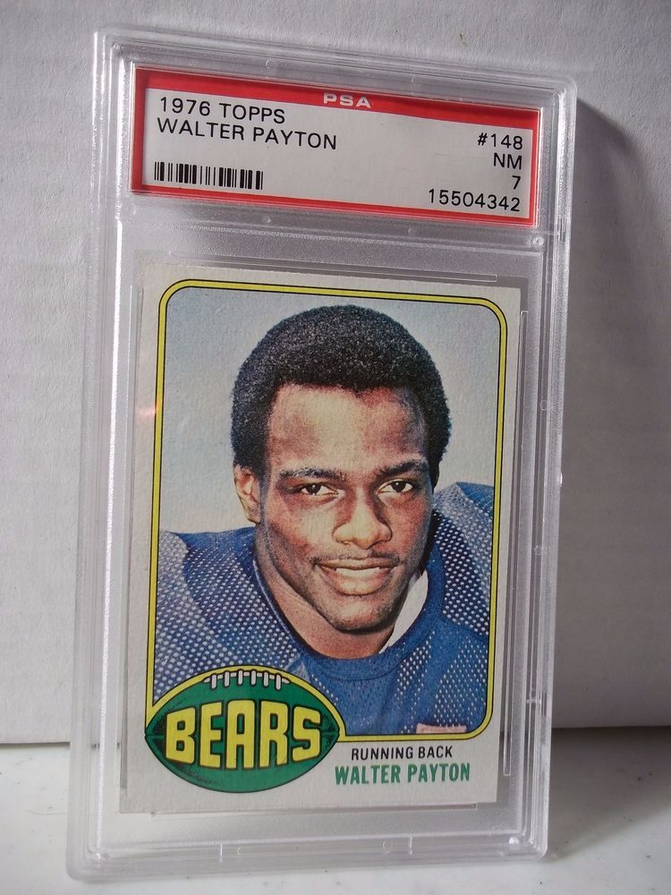 Details About Walter Payton Rookie Card 1976 Topps 148