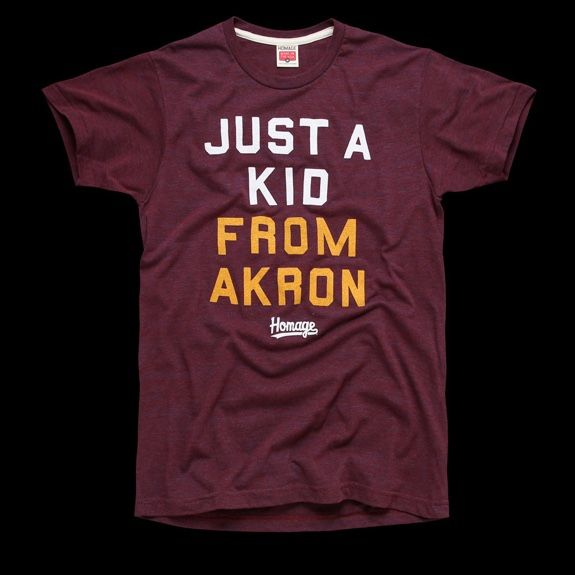 5dcc8624822 Homage  Just A Kid From Akron  Tee