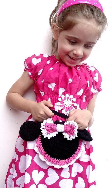 Crochet Pattern Purse Miss Bow Mouse , Girl\'s Crochet Bag Pattern ...