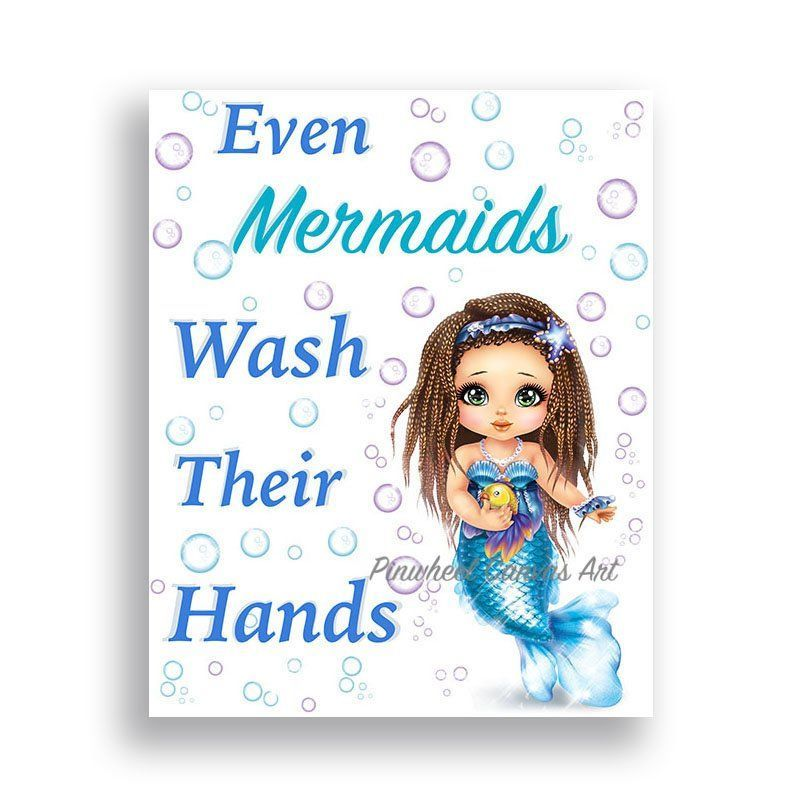 Mermaid Bathroom Wall Decor, Girl Bathroom Sign, Wash Your Hands Sign, Little Mermaid Wall Art Under the Sea Bathroom Decor Girl Canvas Art #mermaidbathroomdecor Mermaid Bathroom Wall Decor, Girl Bathroom Sign, Wash Your Hands Sign, Little Mermaid Wall Art Under the Sea Bathroom Decor Girl Canvas Art ★ Available as UNFRAMED PRINT or GALLERY WRAPPED CANVAS PRINT PLEASE READ!!! ★Watermark will not appear on your new art print. ★SIZING OPTIONS ★ This print is available in 6 different sizes: #mermaidbathroomdecor