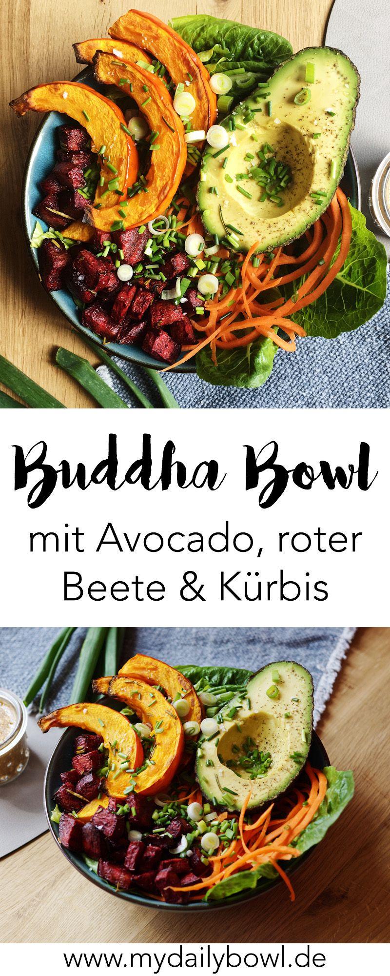 buddha bowl mit avocado k rbis und rote beete meine rezepte buddha bowls smoothies. Black Bedroom Furniture Sets. Home Design Ideas