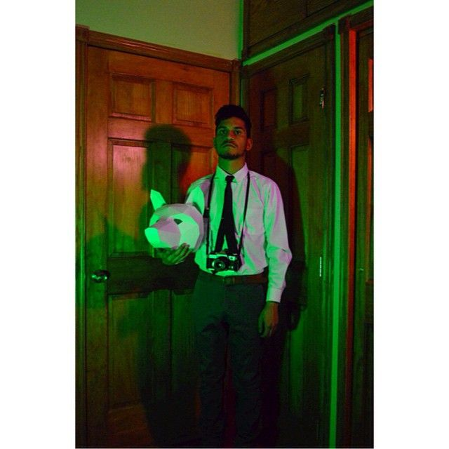B-sides. under the eerie fox. it's almost as if my love for photography is more developed than my passion for graphic design. yet i cherish them both! it's something i need to practice on maturing and balancing them on. p.s. my tie came out lop sided here Lol! #wintercroft #thetruth #reveal #bsides #lovephotography #mythoughts #lateatnight #2am #nikond2300 #watermeloncolors #foxmask
