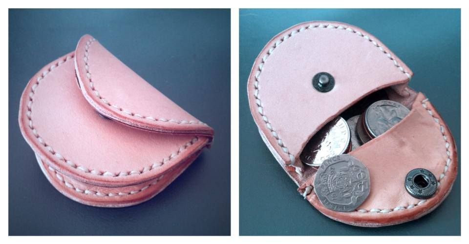 Small Leather Coin Purse Pattern - Haven Leather