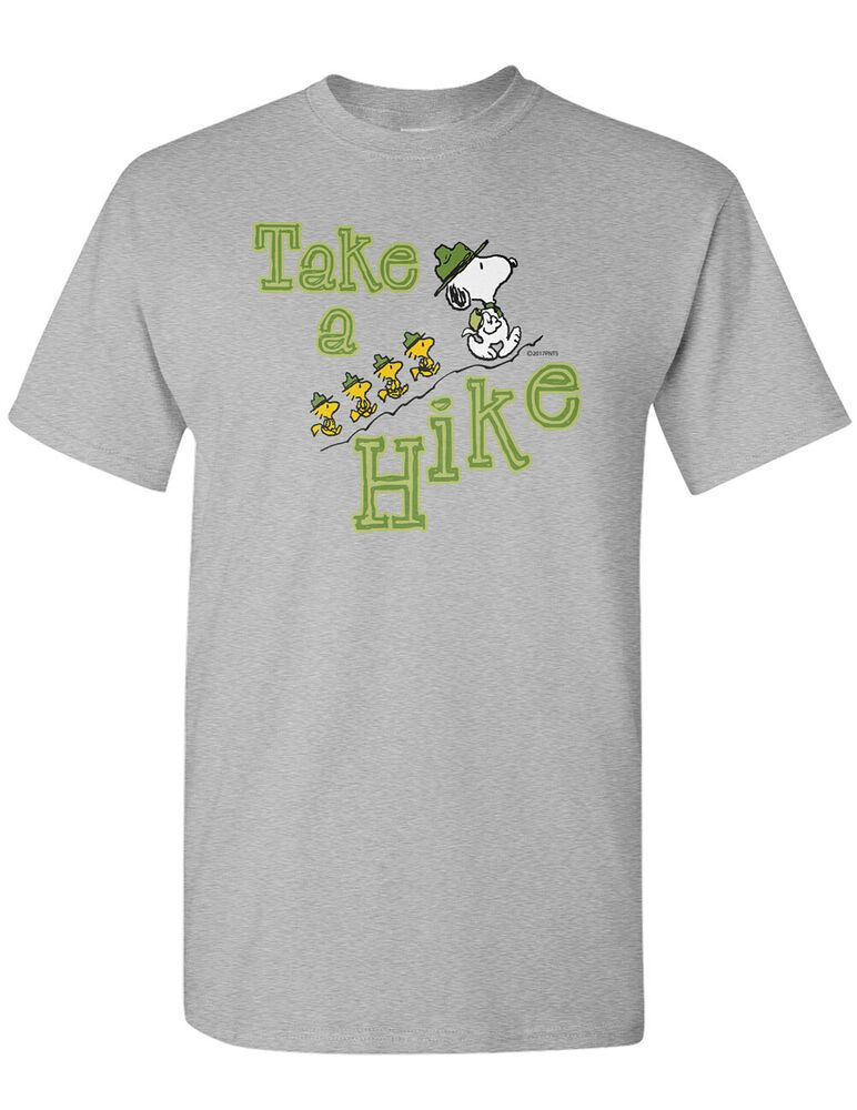 Officially Licensed X-Large NEW NWT Peanuts Snoopy Hike Climbers T-Shirt