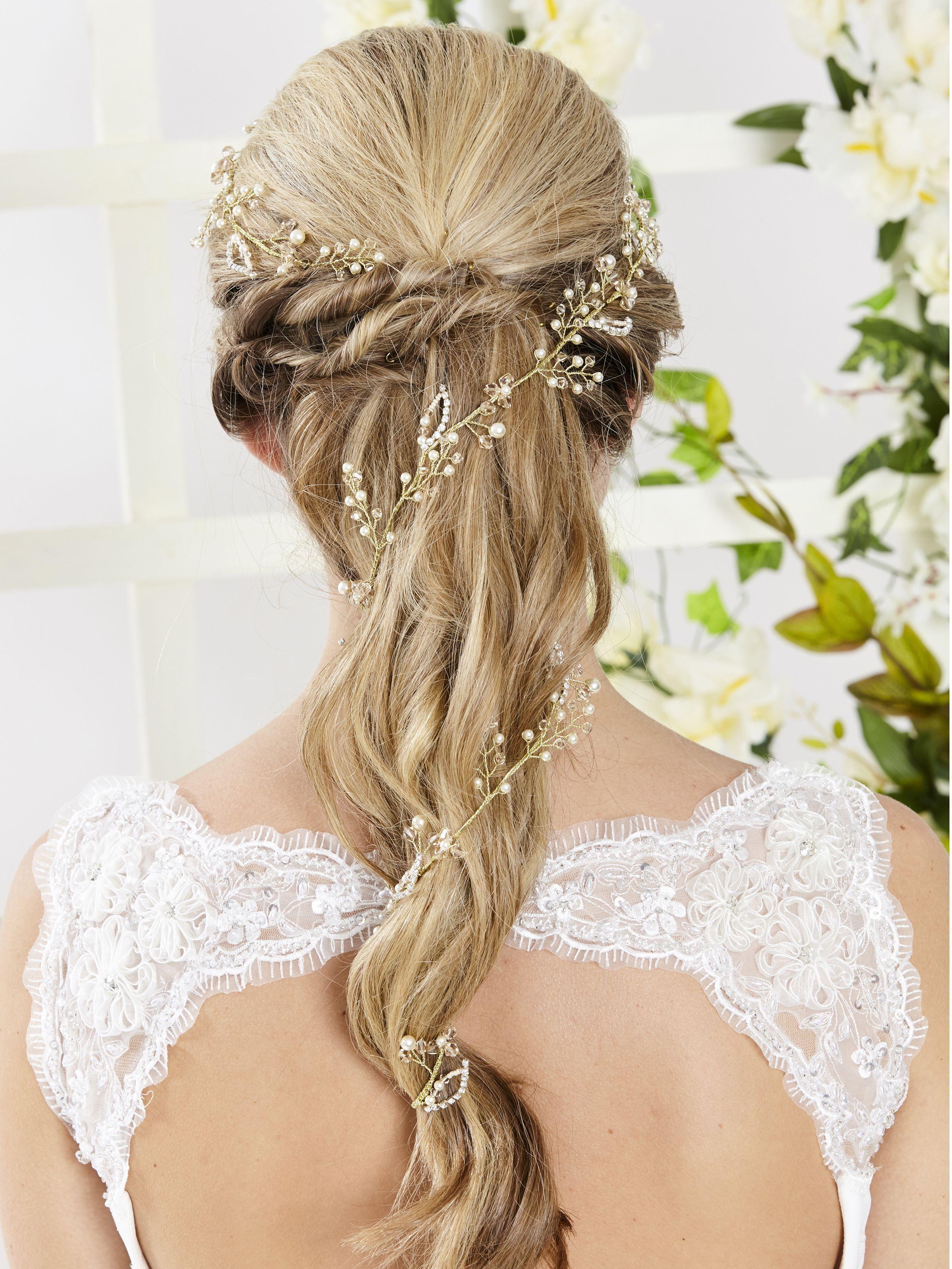 AR543 Entwined Hair Vine Beautiful handmade 1 metre long hair vine