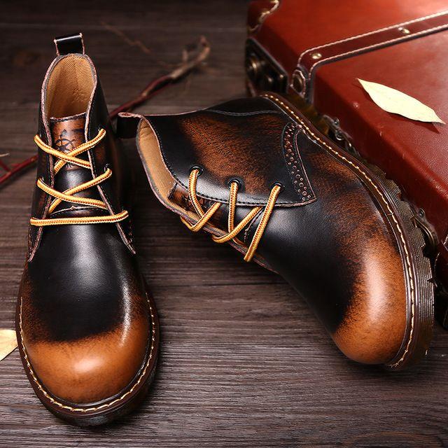Cowboy Work Boots Luxury Fashion Men