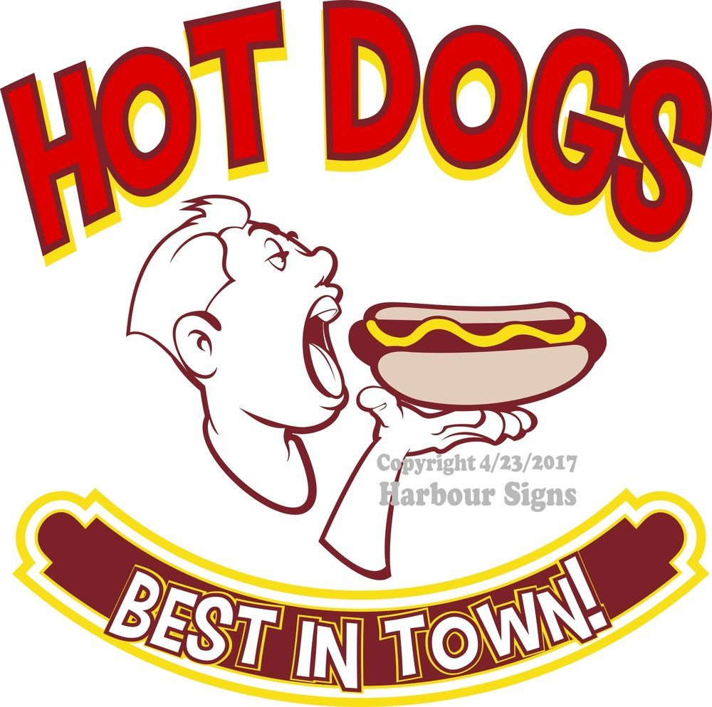 """Chicago Dogs Decal 12/"""" Hot Dogs Concession Restaurant Food Truck Sticker"""
