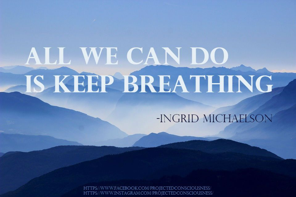 All We Can Do Is Keep Breathing Ingrid Michaelson Meme Quote