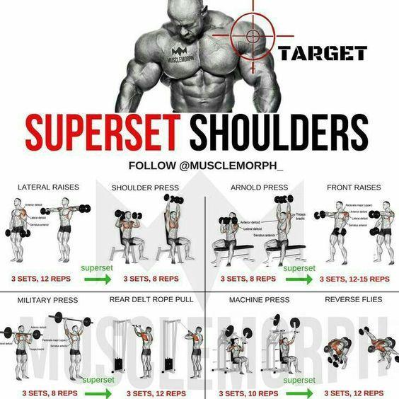 Top 5 Muscle Building Exercises Shoulder Workout Workout Routine Muscle Building Workouts