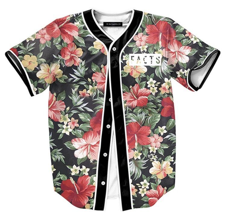 0572be0a488 Onyx Hearts Floral Facts Baseball Jersey