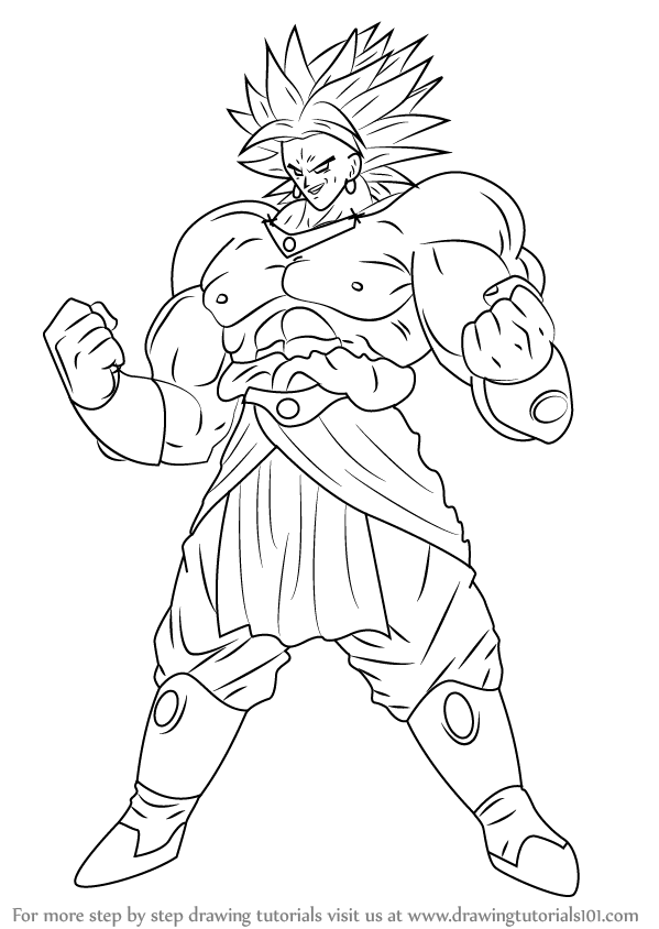 Cartoon Characters Dragon Ball Z : Broly is the male character and saiyan from dragon ball z