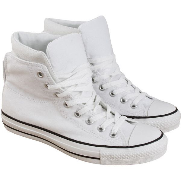 Converse White Ct Dual Coll Hi With Padded Back found on Polyvore