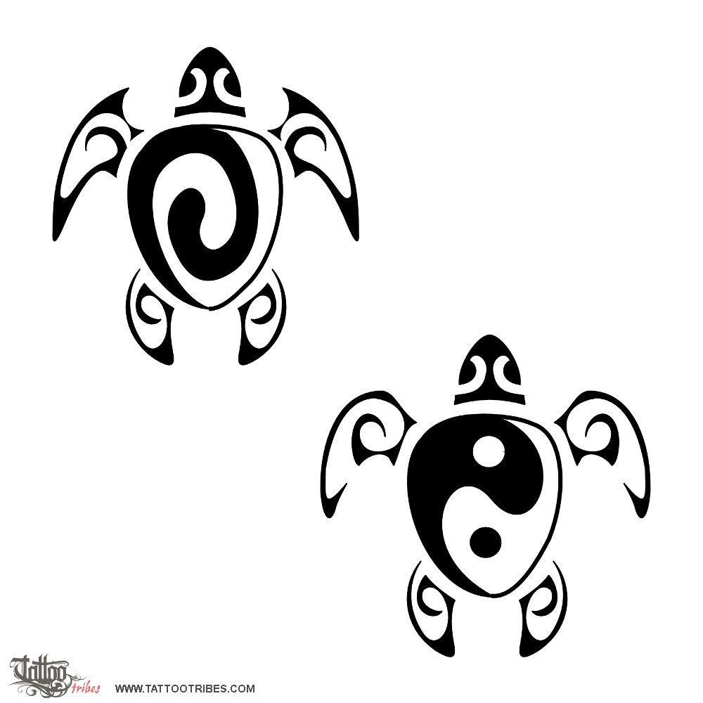 Tatuaggio di Yin Yang, Tartaruga tattoo - custom tattoo designs on ...