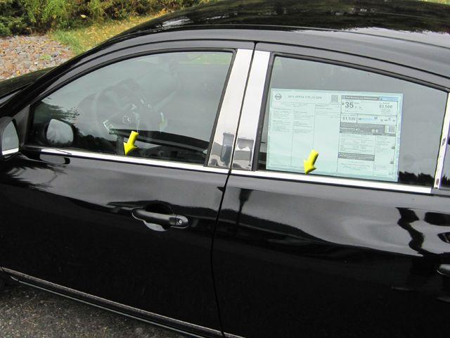 Nissan Versa Window Sill Trim Chrome Stainless Steel 4pc Ws12530 Qaaqualityautomotiveaccessories Window Sill Trim Nissan Versa Window Sill