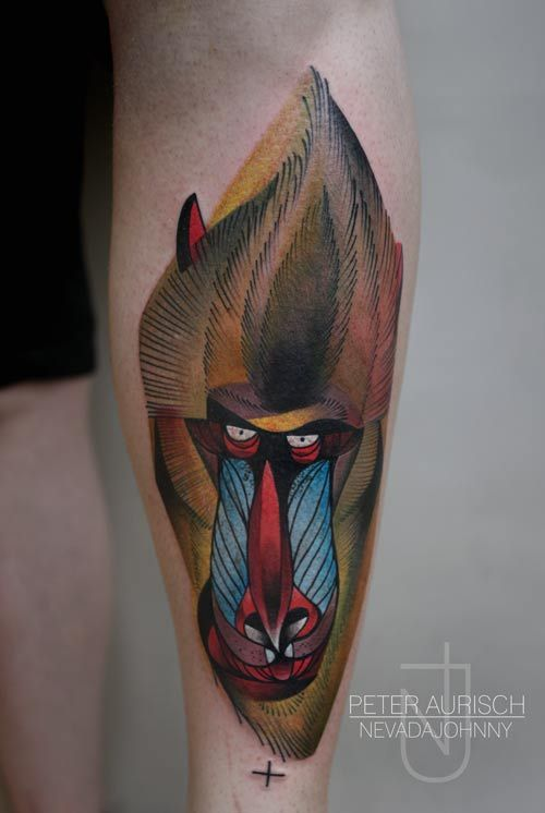 6e89b3c3d Rafiki Tattoo by Peter Aurisch. #tattoo #ink #LionKing #monkey ...