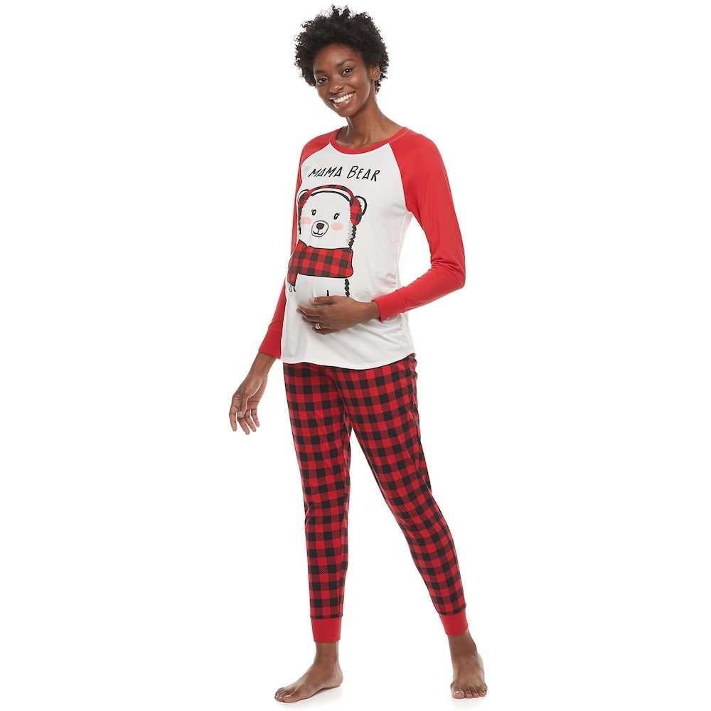 Maternity Jammies For Your Families Cool Bear Top Bottoms Pajama