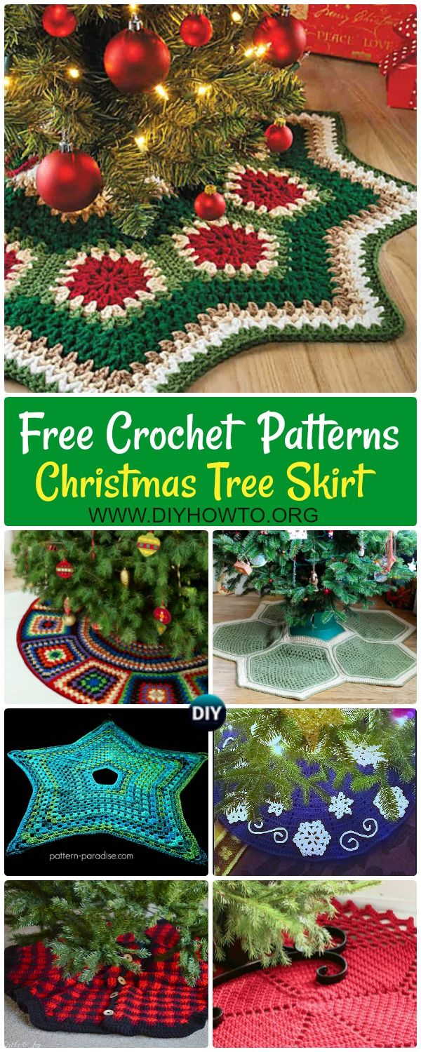 Crochet Christmas Tree Skirt Free Patterns | Crochet christmas trees ...