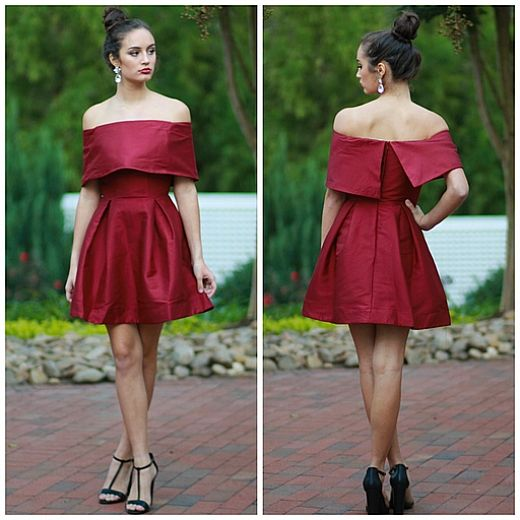 d2c4bfe2f87 Off Shoulder Semi-Formal Dress From Cousin Couture.
