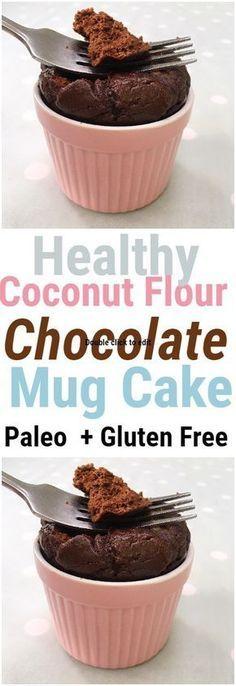 Coconut Flour Chocolate Mug Cake | Nourish Your Glow
