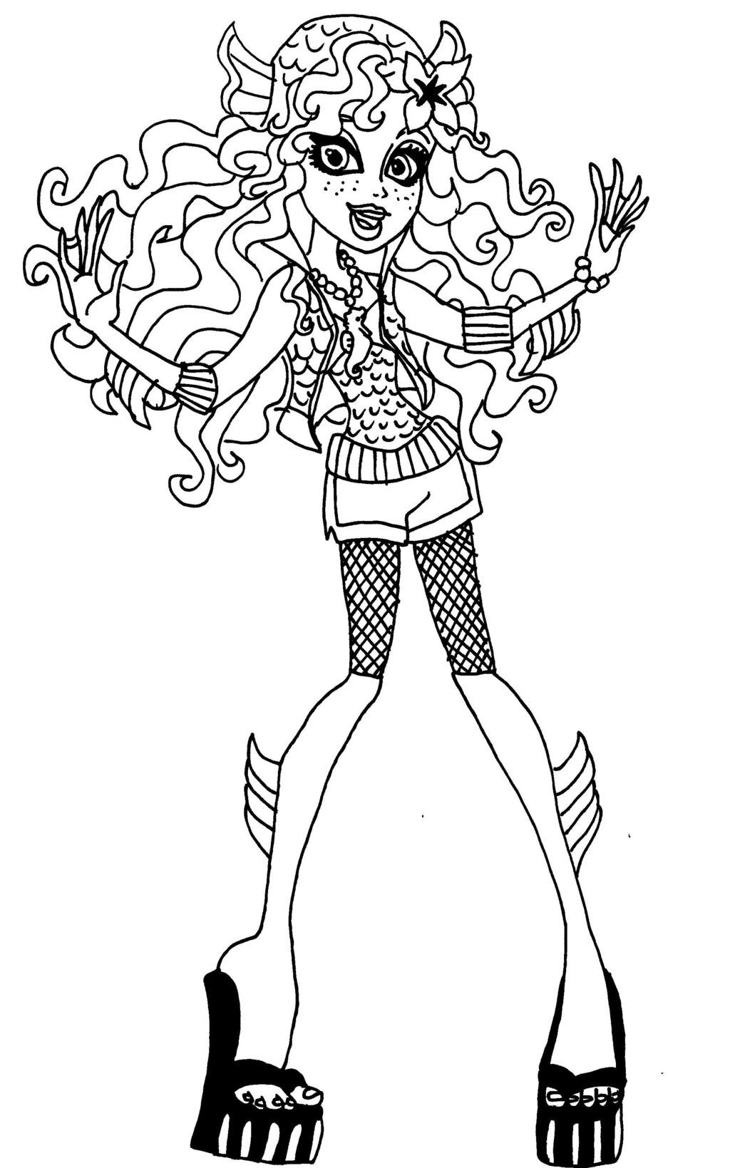 coloring book ~ Colouring Pages Monster High Mermaidloring Free ... | 1639x1024