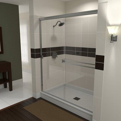 "Arizona Shower Door SE 60"" x 70.38"" Bypass Semi-Frameless Shower Door 