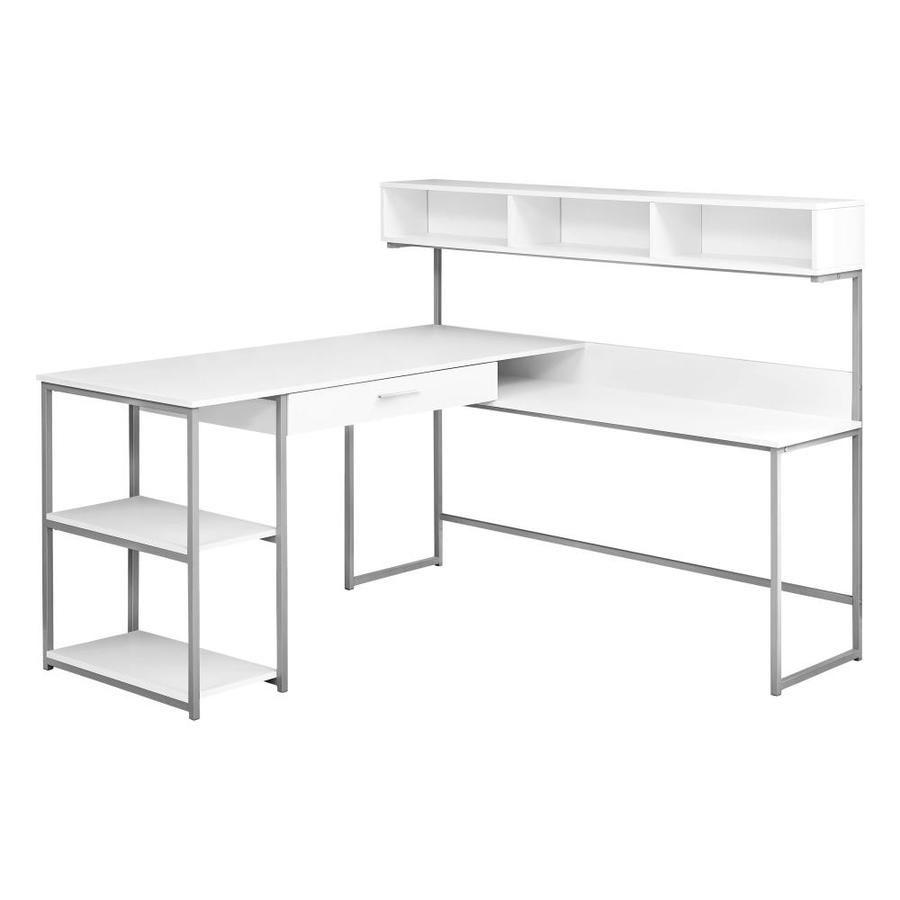 Monarch Specialties Modern Contemporary White Corner Desk I 7162