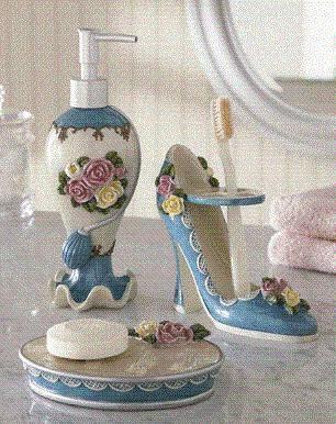 victorian rose bath accessories - Bathroom Accessories Victorian