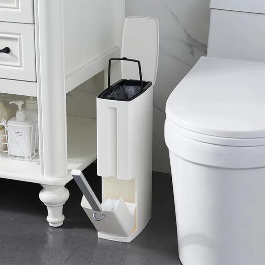 Toilet Brush Extra Toilet Paper Holder Waste Basket Complete Bathroom Set Brushe