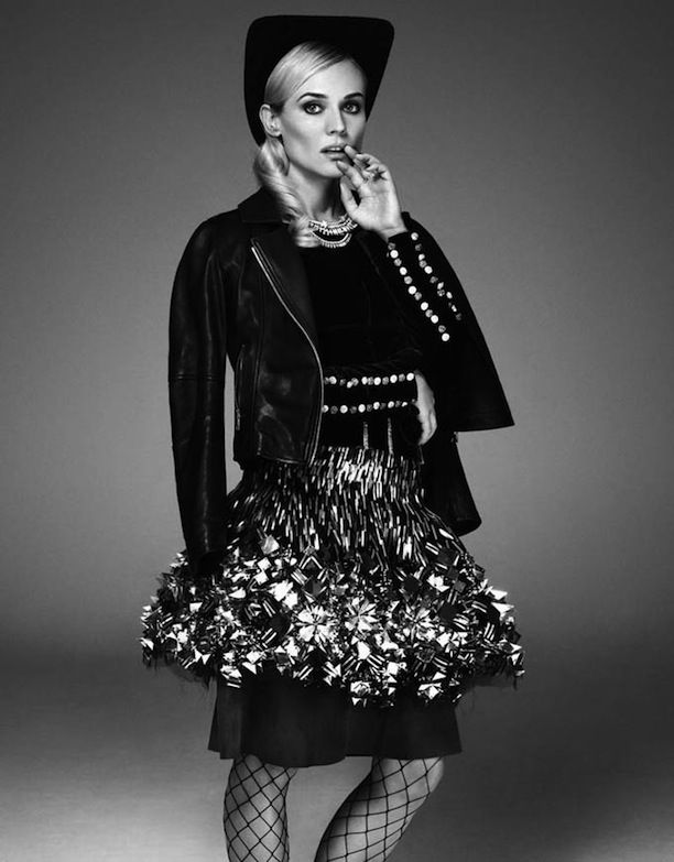 DIANE KRUGER EDITORIAL CHANEL LOOKS CHANEL BEAUTY LOOKS GLAMOUR PARIS PHOTOSHOOT PHOTOGRAPHER JASON KIM STYLIST STYLED BY VIRGINIE BENARROCH...