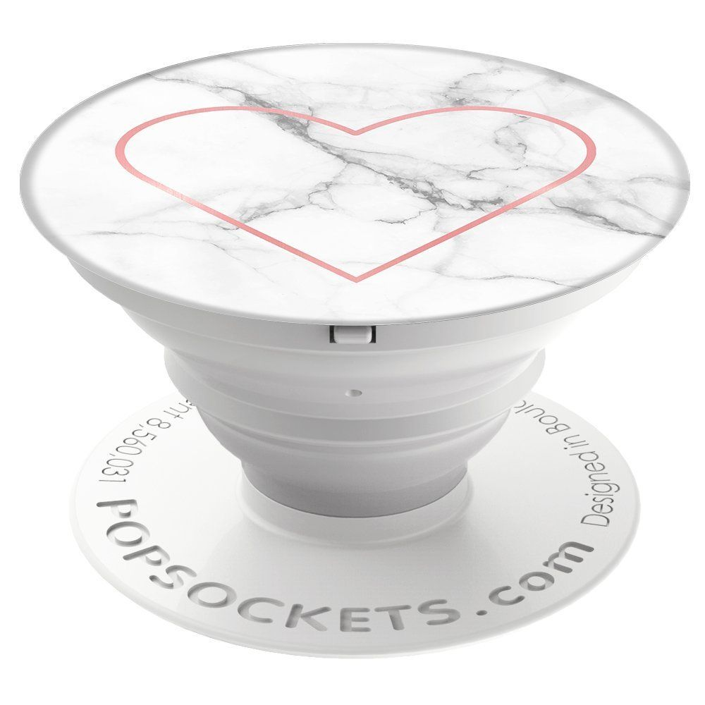Popsocket With Marble Texture Amp A Heart Sign Perfect Gift