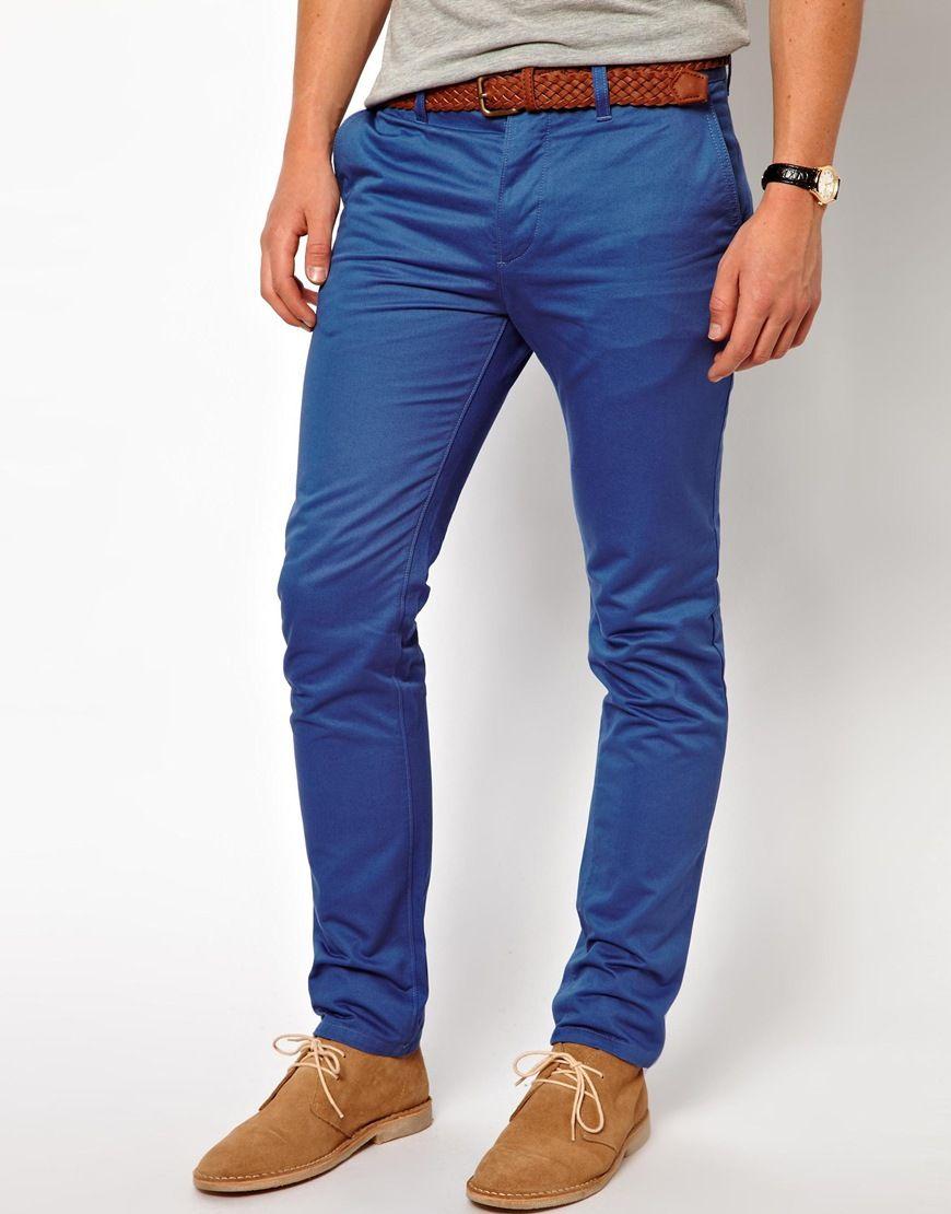 Moda Pantalones Y Jeans Vaqueros Hombre Otono Invierno 2013 2014 Tendencias Chinos Slim Asos Ropa Casual Hombres Pantalones De Hombre Moda Moda Hombre Verano