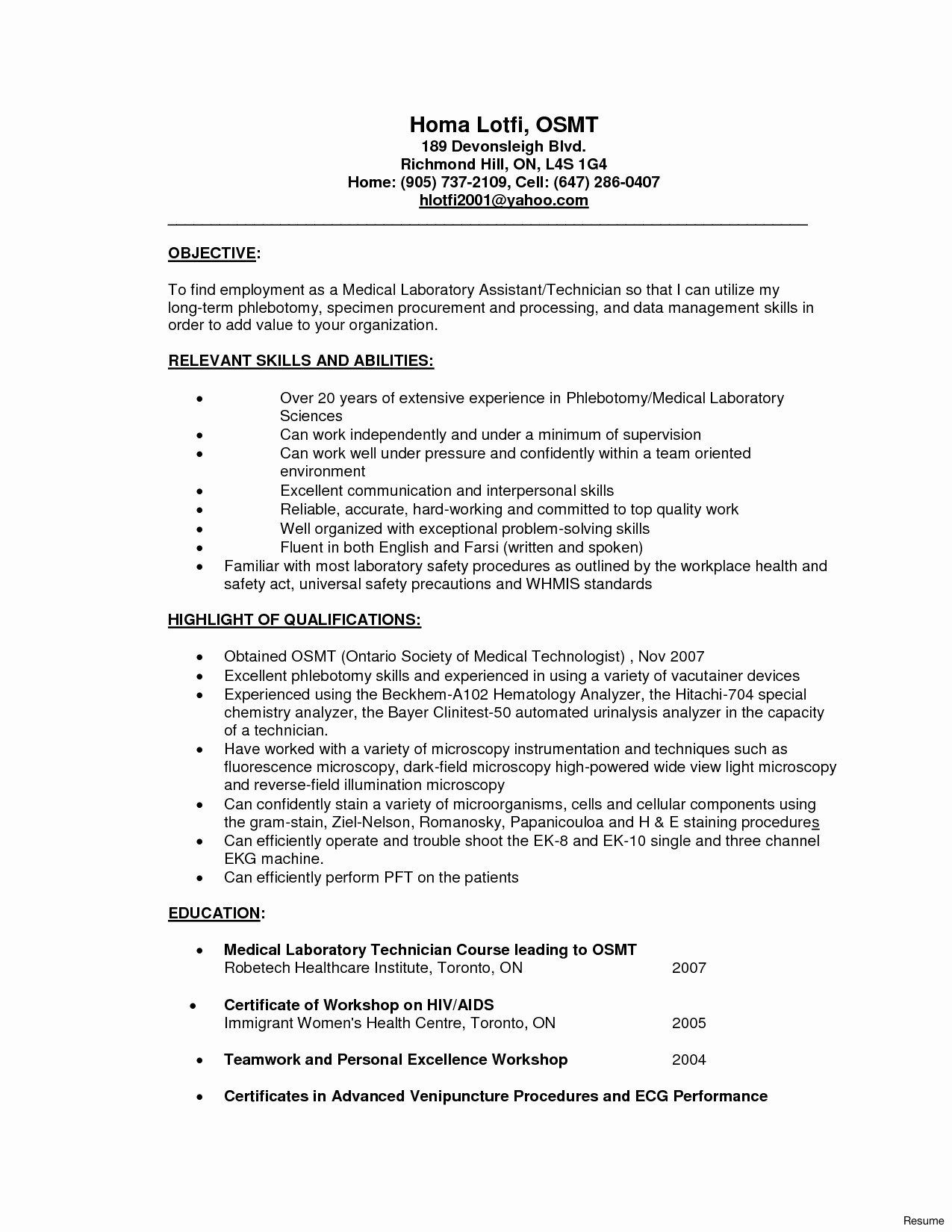 Tips to Have Unique Resume Ideas Medical assistant