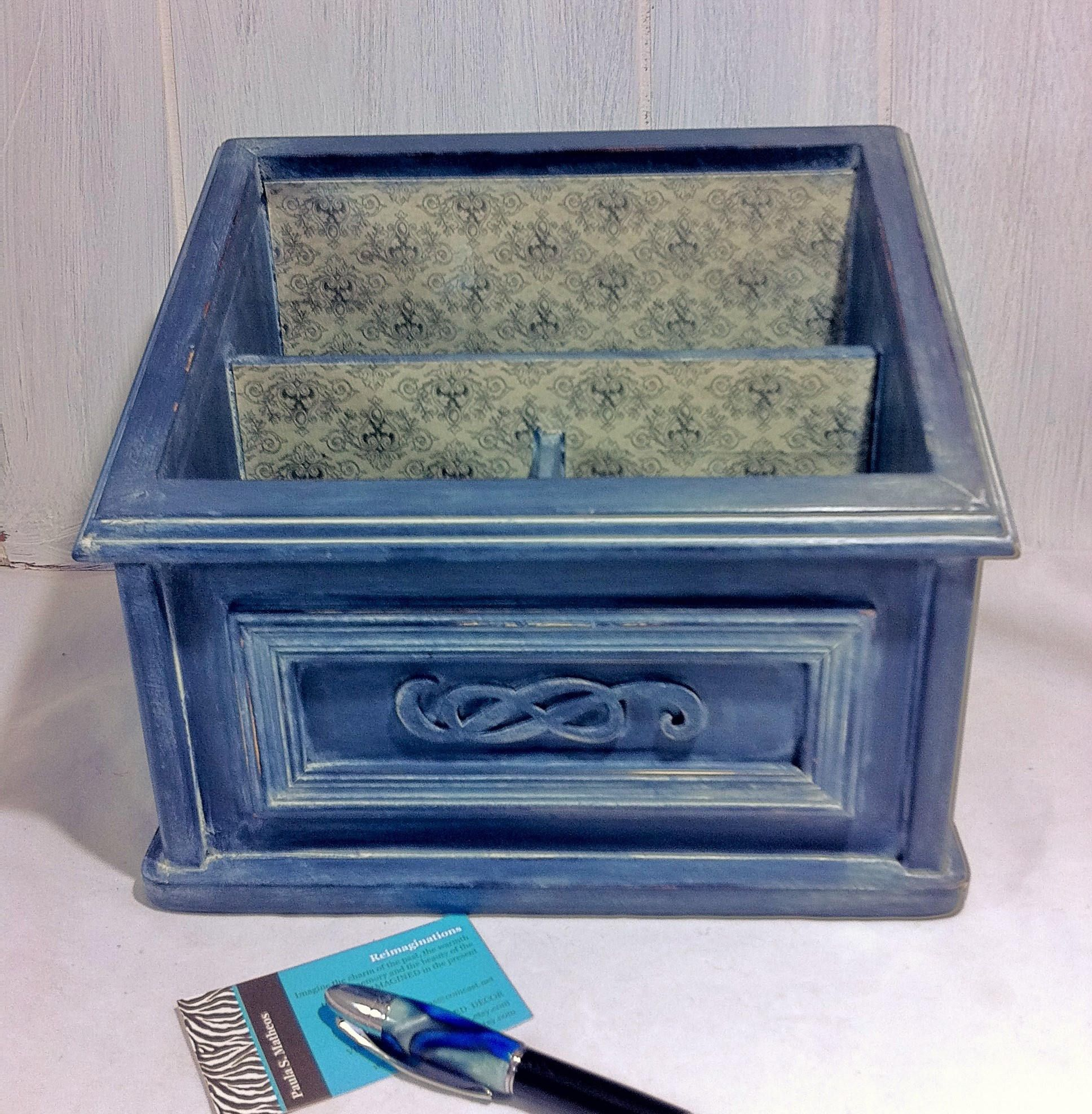 Gray Desk Top Mail Holder Damask Desk Accessory Home fice Decor fice Desk Caddy Stationery Desk Organizer fice Supply Organizer