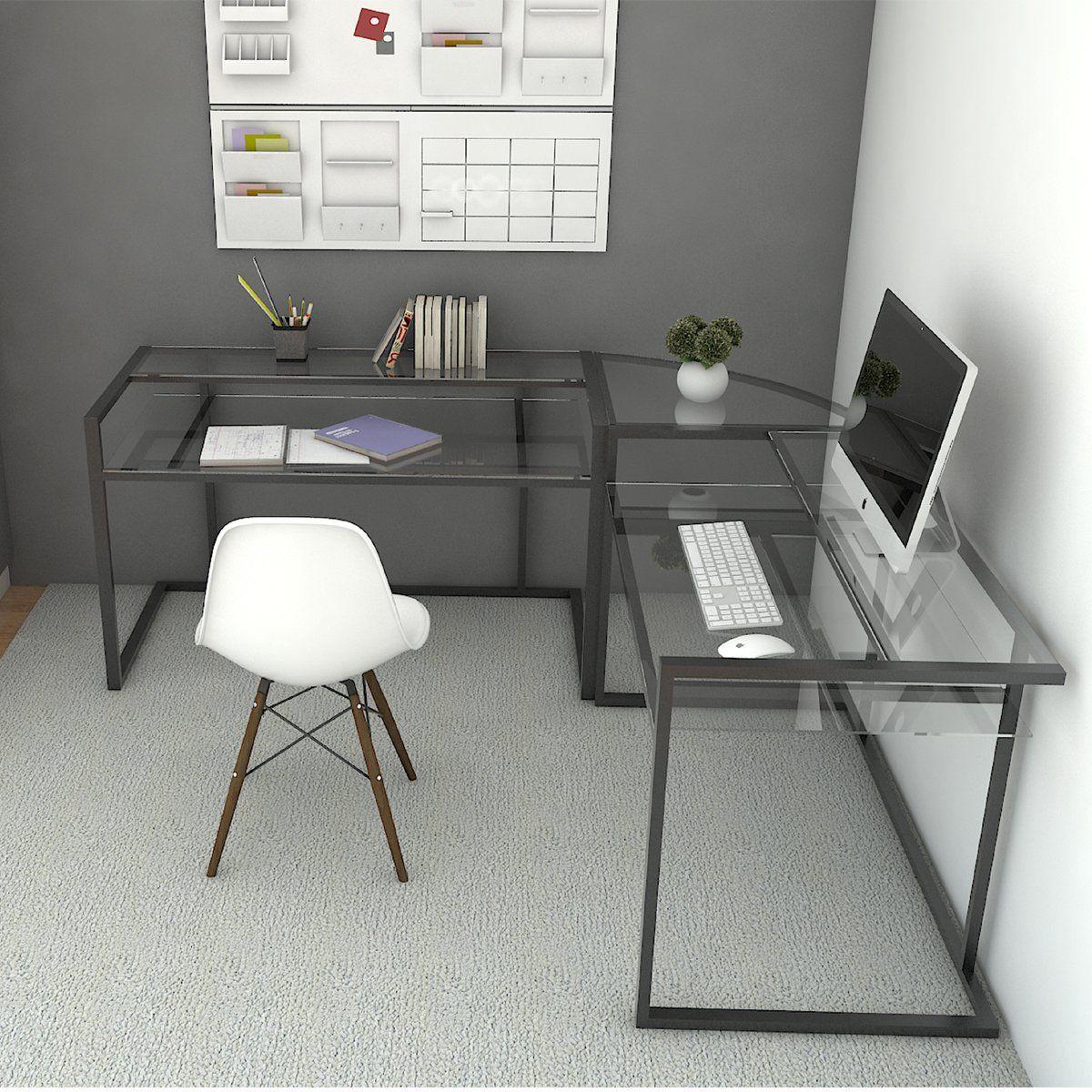 Ryan Rove Belmac 3 Piece Corner C Frame L Shaped Computer Desk Modern Corner Desk Computer Desks For Home Modern L Shaped Desk