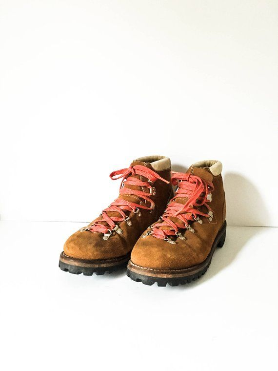 23e7627566eb Hiking boots Men s 11D - Vintage Sears brown leather lace and hook boots -  Sears Montblanc boots - M