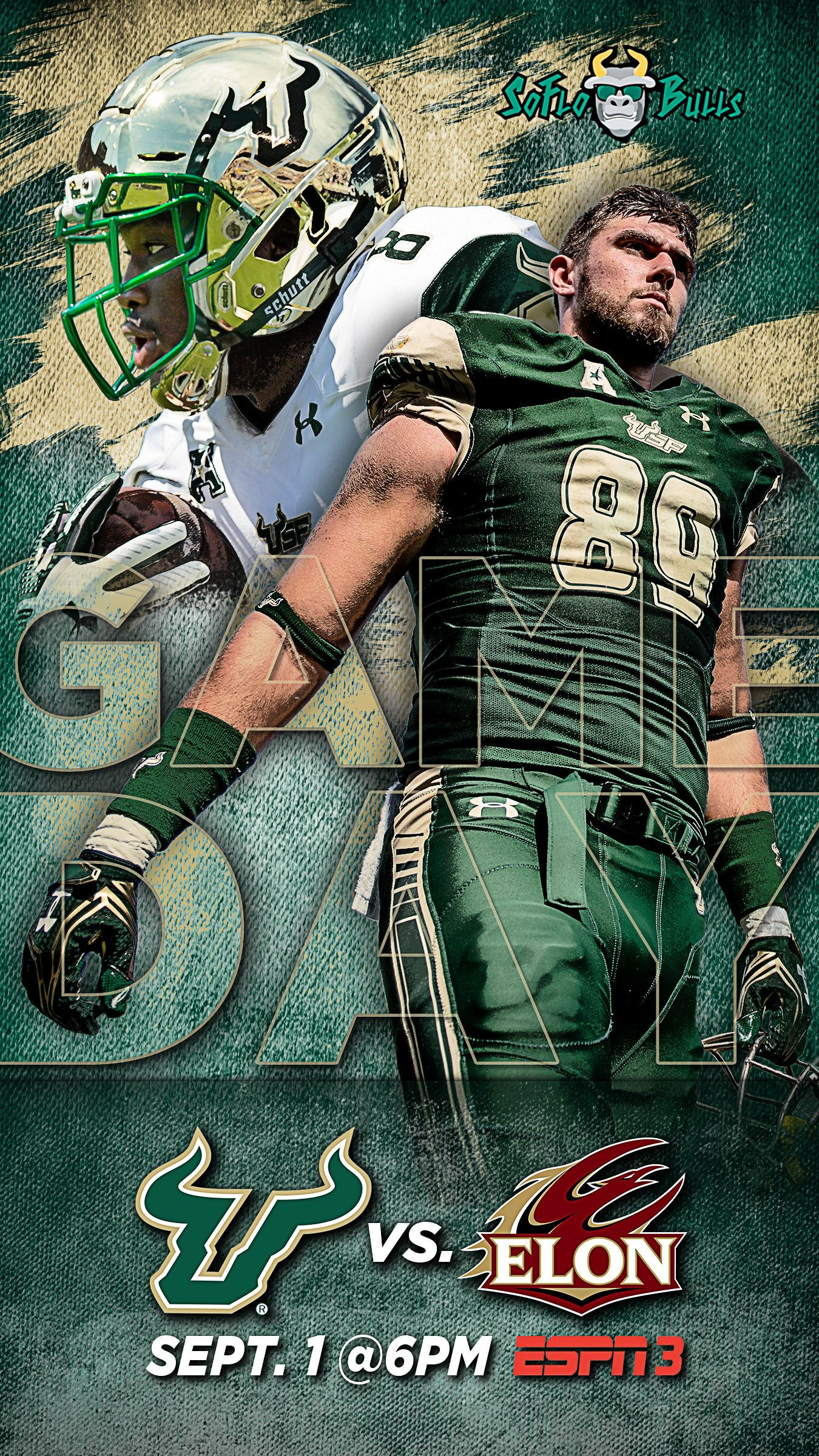 Soflobulls Usf Game Day Promo For 2018 In Week 1 The University Of South Florida Beat Elon To College Football Outfits College Football Memes Football Outfits
