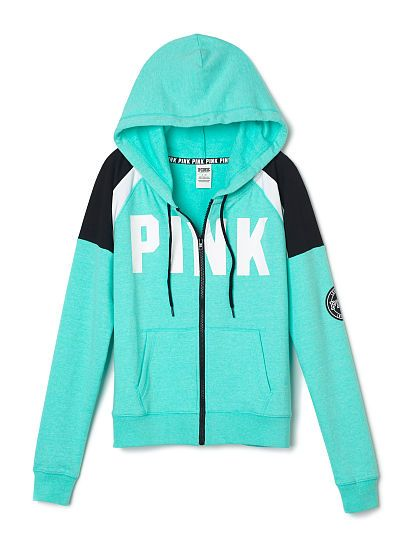 a1d233672606b Perfect Full Zip Hoodie - PINK - Victoria's Secret | ✦ Pink ...