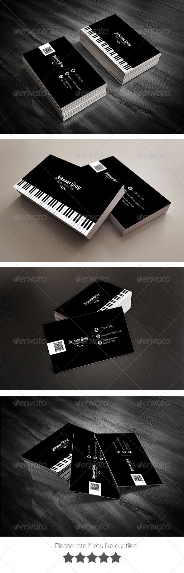Musician Business Card | Card templates, Business cards and Musicians