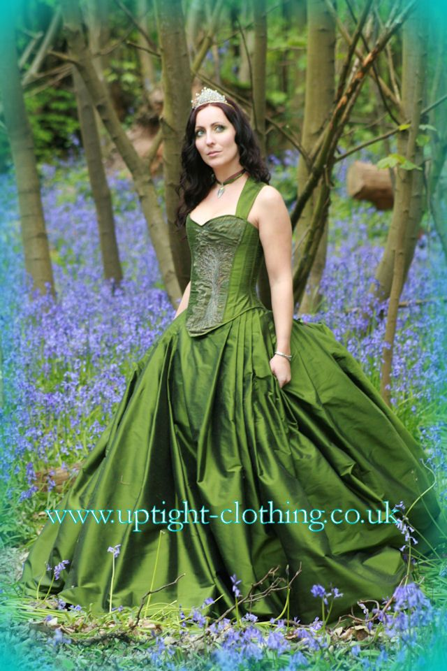 Oh This Green Forest Wedding Dress Is Beautiful