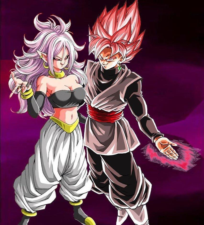 Majin Android 21 x Goku Black Rose Black rose dragon