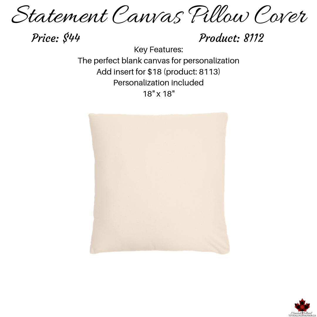 Statement Canvas Pillow Cover 18x18 Thirty One Gifts Llc Statement Pillow Statement Decor Pillow Covers
