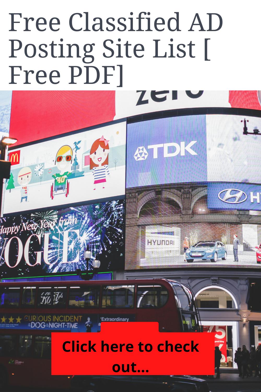 1000+ Free Classified Ad Posting Sites List 2020 [Free PDF