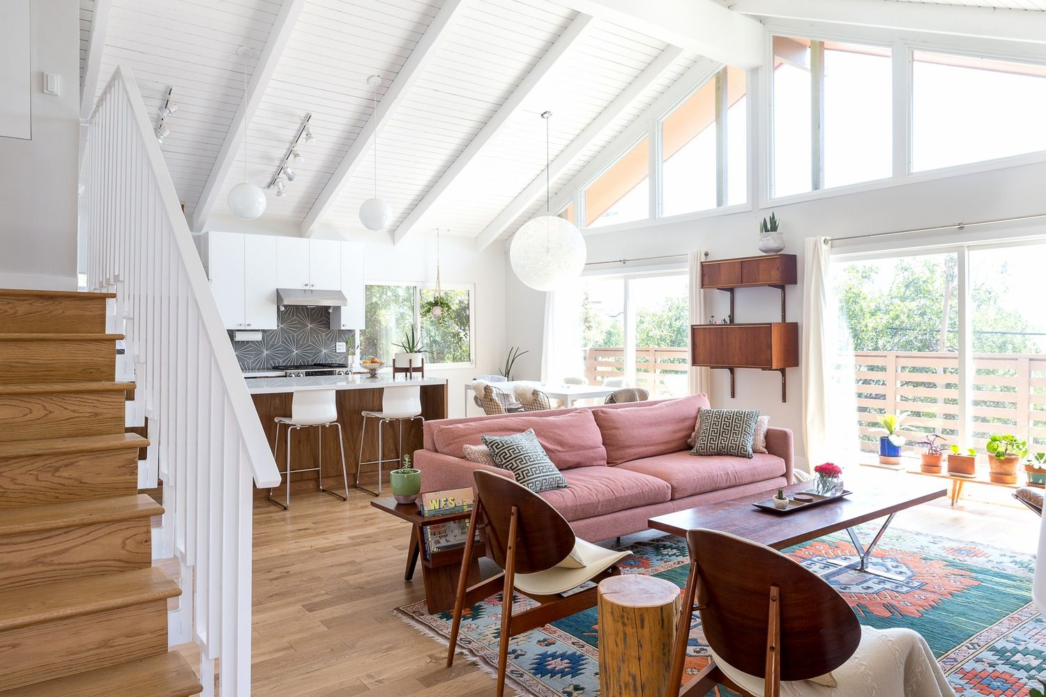 A Vaulted & Vibrant Los Angeles Home | Bungalow, Personality and Los ...
