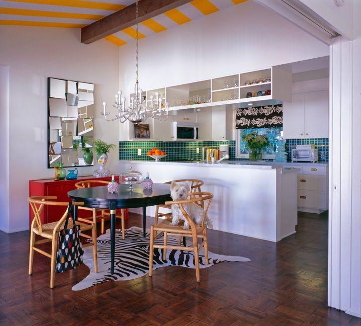 Elegant Funky Kitchen Striped Ceiling Molly Luetkemeyer