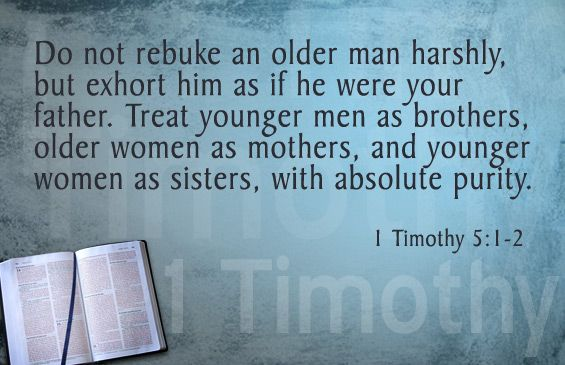 Image result for 1 timothy 5:1-3